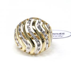 Prsten z dvoubarevného zlata Pattic AU 585/000 3,50 gr, ruční práce, PTG06901-56