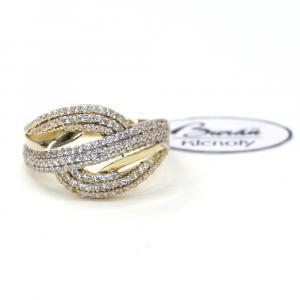Prsten ze žlutého zlata a zirkony Pattic AU 585/000 2,55 gr, Z435001