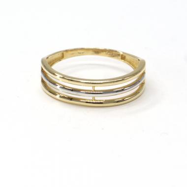 Prsten z dvoubarevného zlata Pattic AU 585/000 2,11 gr, BA03601