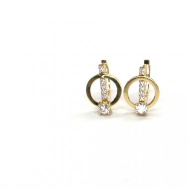 Náušnice ze žlutého zlata se zirkony Pattic AU 585/000 2,30 gr ARP624104Y