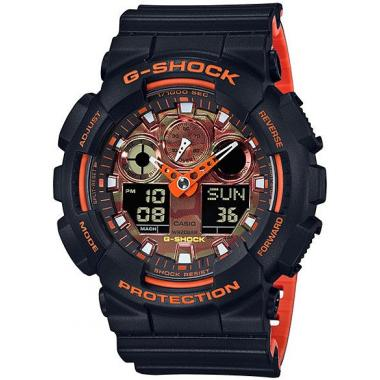 Pánské hodinky CASIO G-shock GA-100BR-1AER