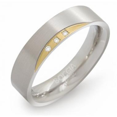 Titanový prsten BOCCIA s diamanty 0138-04