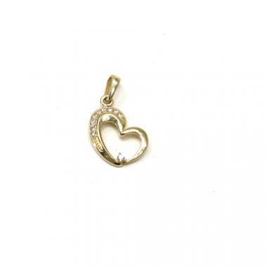 Zlatý přívěsek Pattic srdce 0,85 gr GU00305