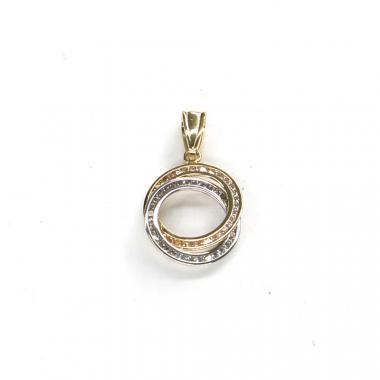 Přívěs kruhy se zirkony Pattic AU 585/000 1,35 gr ARP018505