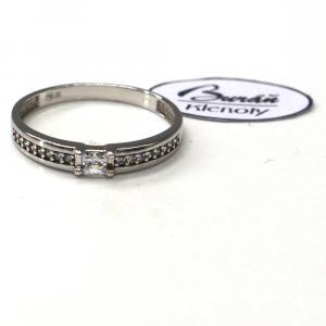 Prsten Pattic z bílého zlata se zirkony  AU 585/000 1,77 gr, PR116068701