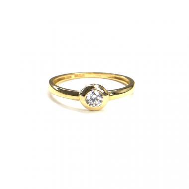 Prsten ze žlutého zlata a zirkonem Pattic AU 585/000 1,35 gr, ARP014501-54