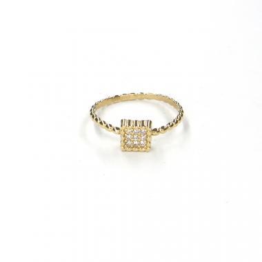 Prsten ze žlutého zlata a zirkony Pattic AU 585/000 1,35gr LMG08801Y-52