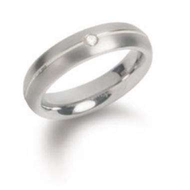 Titanový prsten BOCCIA s diamanty 0130-0555