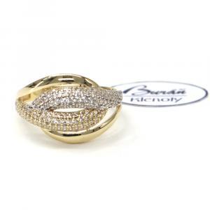 Prsten ze žlutého zlata a zirkonyAU 585/000 2,85 gr, Z422001