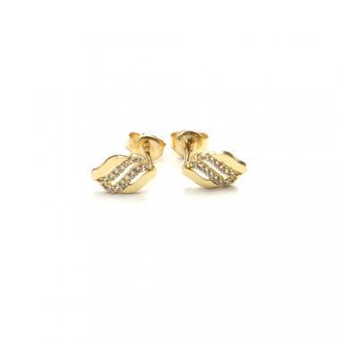 Náušnice PATTIC ze žlutého zlata se zirkony AU 585/000 1,1g BV017404Y