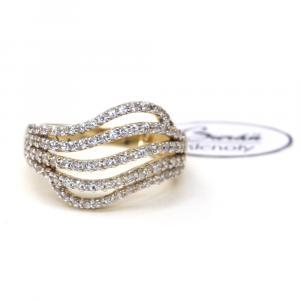 Prsten ze žlutého zlata a zirkony Pattic AU 585/000 4,35 gr, Z419001