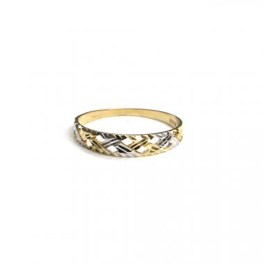 Prsten z dvoubarevného zlata PATTIC AU 585/000 1,1 gr, ARP653601-54