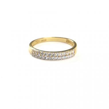 Prsten ze žlutého zlata a zirkony Pattic AU 585/000 1,95 gr, ARP376601-57