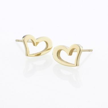 Náušnice STORM Heart Earrings -  Gold 9980695/GD