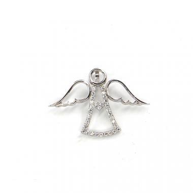 Přívěs z bílého zlata anděl Pattic AU 585/000 1,35 gr LMG1205W