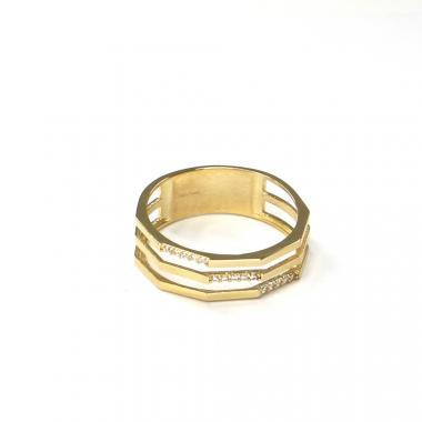 Prsten ze žlutého zlata a zirkony Pattic AU 585/000 2,50 gr ARP058201-58