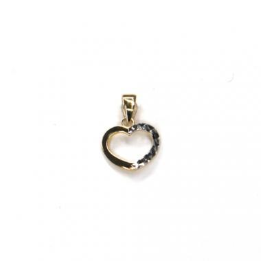 Príves srdce Pattic AU 585/000 0,65 gr ARP011905