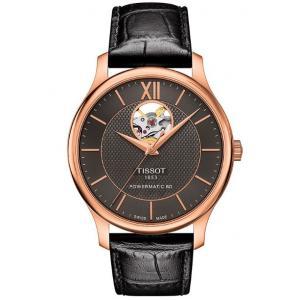 Pánské hodinky TISSOT Tradition Automatic Open Heart T063.907.36.068.00