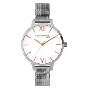 Dámské hodinky JVD Sunday Rose Fashion Silver Love SUN-F04