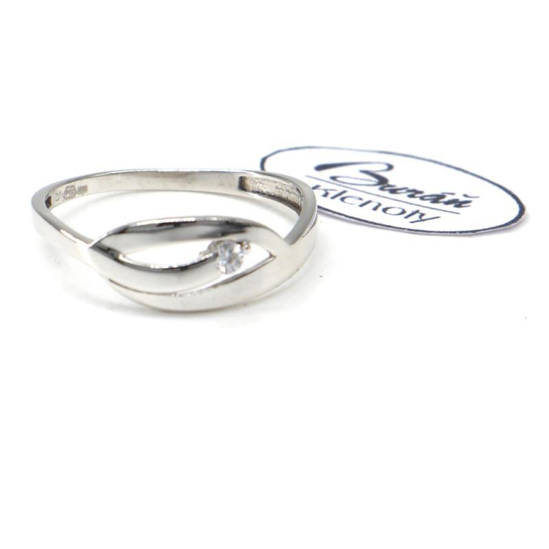 Prsten Pattic  z bílého zlata  AU 585/000 1,47 gr, PR116629701-58
