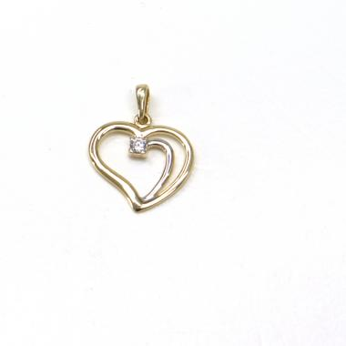 Zlatý přívěsek Pattic srdce 1,25 gr GU00205