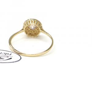 Prsten ze žlutého zlata se středovým zirkonem Pattic AU 585/000 2,10 gr, PR115906101-56