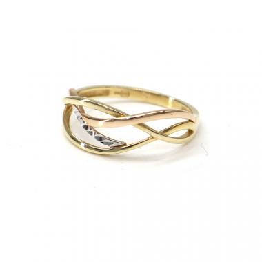 Prsten z tříbarevného zlata Pattic AU 585/000 2,00 gr, BA03401