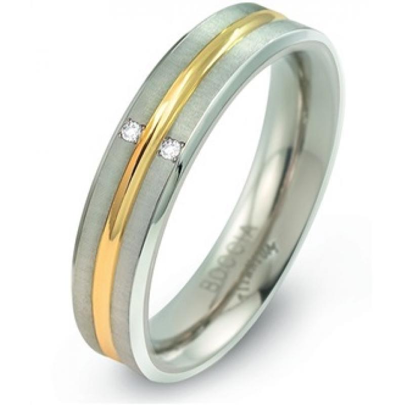 Titanový prsten BOCCIA s diamanty 0144-01
