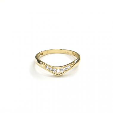 Prsten ze žlutého zlata a zirkony Pattic AU 585/000 1,80 gr GURDC0107570201-58