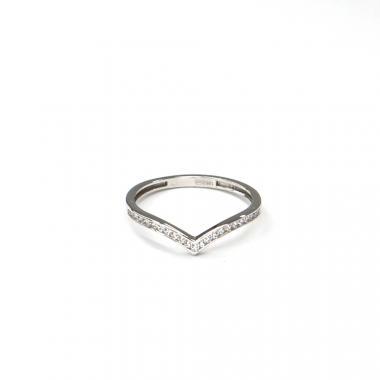 Prsten z bílého zlata se zirkony Pattic AU 585/000 1,10 gr ARP016001W-50