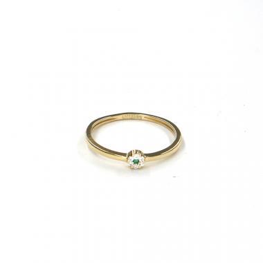 Prsten ze žlutého zlata se spinelem Pattic AU 585/000 1,05 gr LMG08301GRY-54