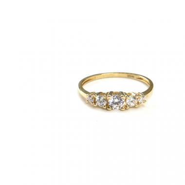 Prsten ze žlutého zlata a zirkony Pattic AU 585/000 1,6 gr ARP021601-55