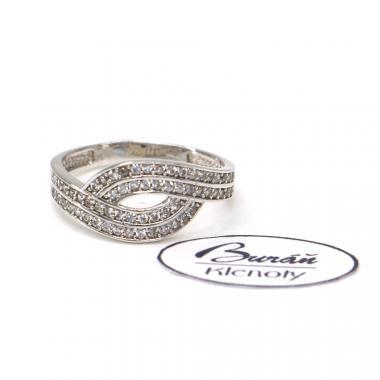 Prsten z bílého zlata se zirkony Pattic AU 585/000 1,85 gr,PR186027101B