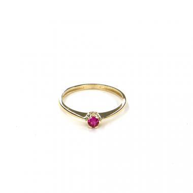 Prsten ze žlutého zlata s rubínem Pattic AU 585/000 1,05 gr LMG7901RY-52