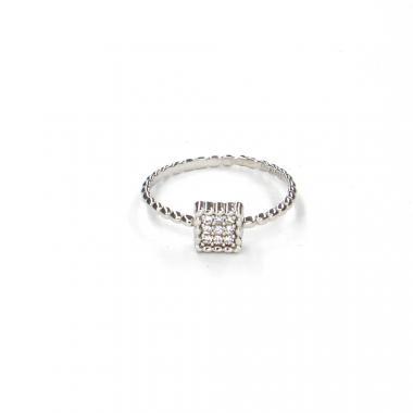 Prsten z bílého zlata a zirkony Pattic AU 585/000 1,35gr LMG08801W-55