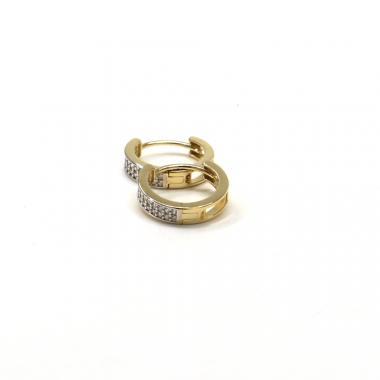 Naušnice ze žlutého zlata a zirkony Pattic AU 585/000 1,40 gr GU01104