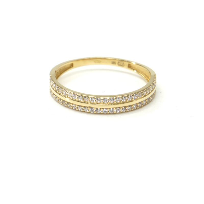 Prsten ze žlutého zlata a zirkony Pattic AU 585/000 1,60 gr BA05801