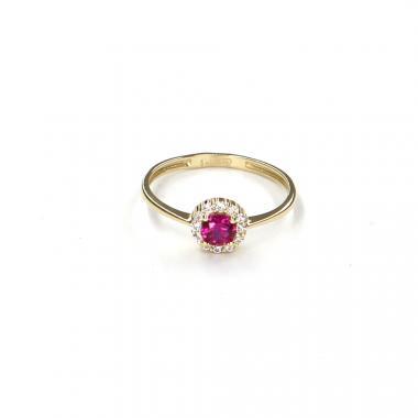 Prsten ze žlutého zlata s rubínem Pattic AU 585/000 1,35 gr LMG6901RY-55