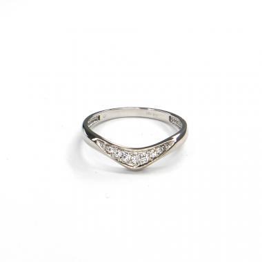 Prsten z bílého zlata se zirkony Pattic AU 585/000 1,90 gr GURDC0107570101-59