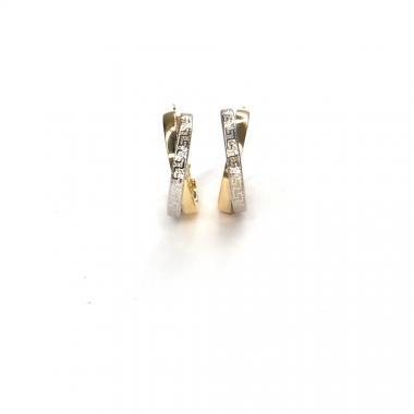 Náušnice bicolor Pattic AU 585/000 2,65 gr ARP229904