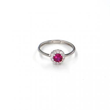 Prsten z bílého zlata s rubínem Pattic AU 585/000 1,25 gr LMG6901RW-50