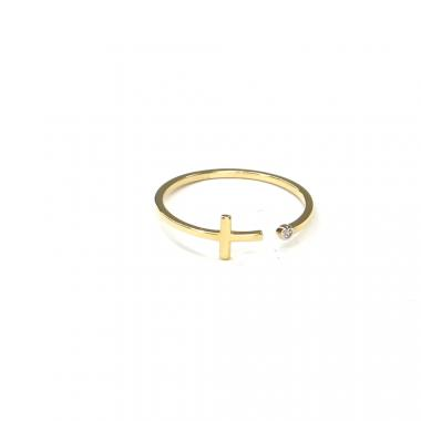 Prsten ze žlutého zlata a zirkonem Pattic AU 585/000 0,85 gr ARP059101Y-56