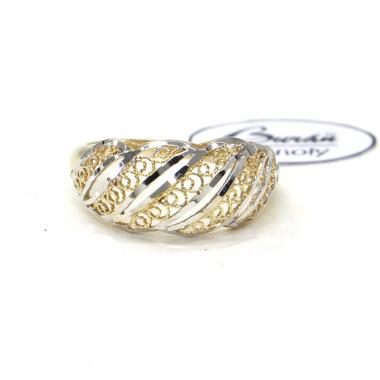 Prsten z žluto/bílého zlata Pattic AU 585/000 2,20 gr, PTG06901-58
