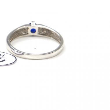 Prsten Pattic z bílého zlata se zirkony a safírem AU 585/000  2 gr, PR116058901A