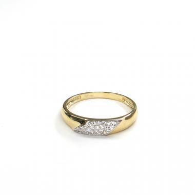Prsten ze žlutého zlata a zirkony Pattic AU 585/000 1,80 gr GURDD0115290001-57