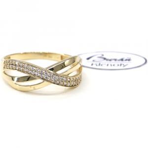 Prsten ze žlutého zlata a zirkony Pattic AU 585/000 2,52 gr, PR111072201-62