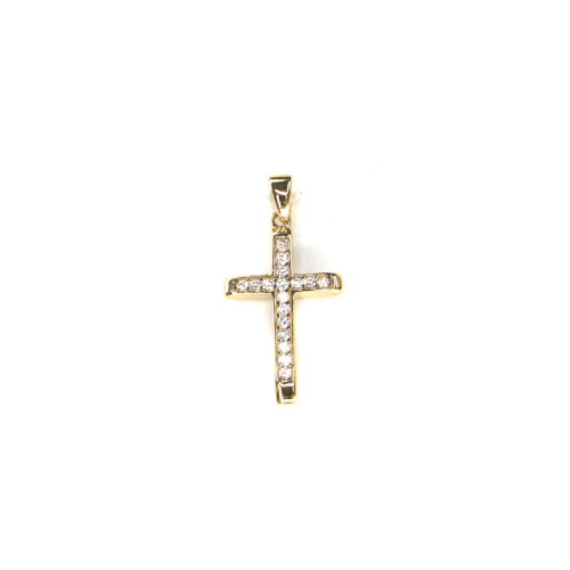 Zlatý přívěs křížek  PATTIC AU 585/000 1,5gr ARP349305 se zirkony