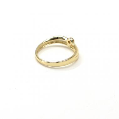 Prsten ze žluto/bílého zlata Pattic AU 585/000 1,60gr GU00701 se zirkonem