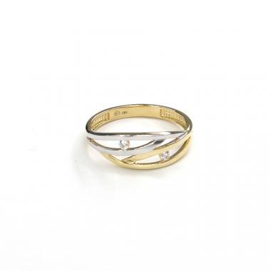 Prsten ze žlutého zlata a zirkony Pattic AU 585/000 2,20 gr GURDD0123180201-61