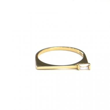 Prsten ze žlutého zlata a zirkonem AU 585/000 1,45 gr, ARP553801-53